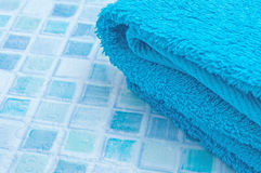 Towels in Bathroom Stock Images