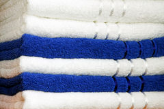 Towels blue Stock Photo