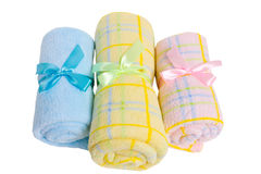 Towels with bow Royalty Free Stock Images