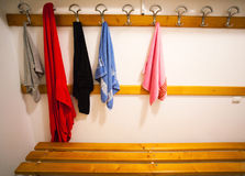 Towels in changing room Stock Image
