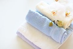 Towels close up Royalty Free Stock Images