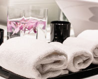 Towels decoration Stock Photography