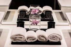 Towels decoration Royalty Free Stock Image