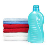 Towels and detergent Royalty Free Stock Image