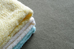 Towels of different colors Stock Photo