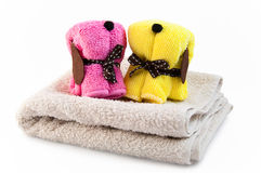 Towels in the form of dogs Royalty Free Stock Photos