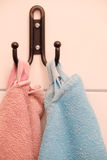 Towels on a hook Royalty Free Stock Image