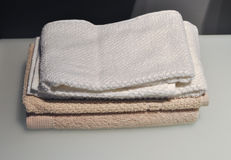 Towels in hotel room Royalty Free Stock Photography