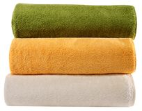 Towels. Isolated Royalty Free Stock Photos