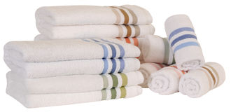 Towels. Isolated Stock Photography