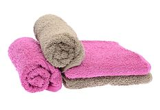 Towels Isolated  Stock Photo