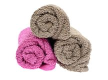 Towels Isolated  Royalty Free Stock Image