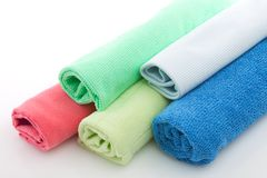 Towels many-coloured Stock Photo