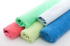 Towels many-coloured Stock Photo