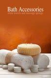 Towels and massage sponge Stock Image