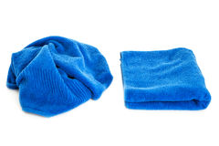 Towels and piece of soap royalty free stock photography