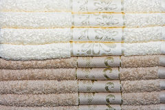 Towels pile Stock Photography