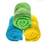Towels pile isolated Royalty Free Stock Image