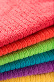 Towels in rainbow colors Stock Photography