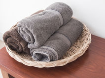 Towels roll Stock Photo