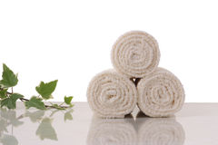 Towels rolls Stock Photography