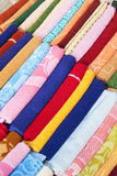 Towels for Sale at Market, Nepal Stock Image