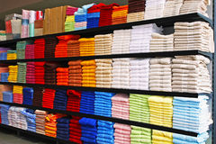Towels shelf Stock Image