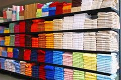 Towels shelf Stock Image