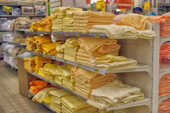 Towels on the shelves Royalty Free Stock Photos