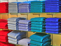 Towels in the shop Royalty Free Stock Photo