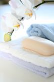 Towels and soap Royalty Free Stock Image