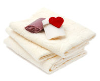 Towels and soap Stock Image