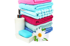Towels and soaps Stock Image