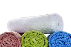 Towels in Soft and Fluffy Cotton Royalty Free Stock Image