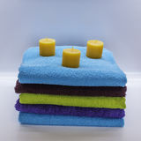 Towels in the spa 10. Colours towels in the natural and relax spa Royalty Free Stock Image