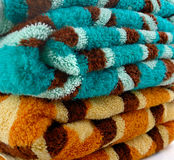 Towels spa isolated on white background. Towels isolated on white background stock photography
