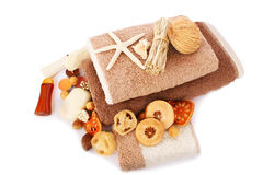 Towels and spa set Royalty Free Stock Photography
