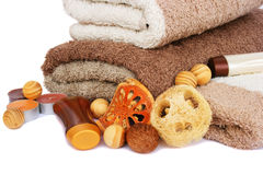 Towels and spa set Stock Photography