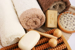 Towels and spa set royalty free stock photos