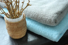 Towels. Spa Setting - Hotel Service Royalty Free Stock Photo
