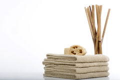 Towels and sponges Royalty Free Stock Image