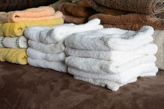 Towels in a Stack after Laundry Royalty Free Stock Image