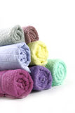Towels stacked of Different colored Royalty Free Stock Photo