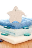 Towels and stones Stock Photography