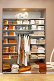 Towels storage Stock Photos