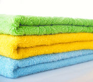 Towels on a table Stock Image