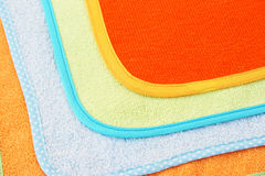 Towels texture. Colorful towels as a background Stock Images
