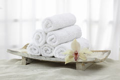 Towels, towel rolls Royalty Free Stock Images
