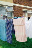 Towels on a washing line Stock Photography