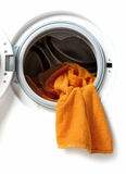 Towels in a washing machine Stock Images